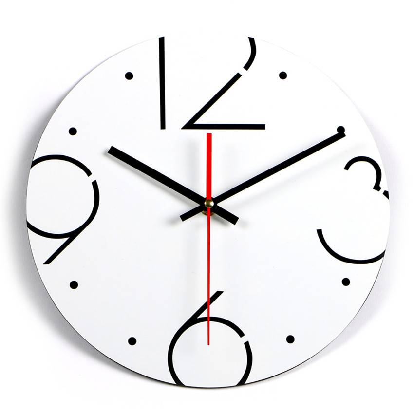 NieuweAantal Wandklok Zwart Wit Klok Stille Thuis decoratie Acryl Muur Horloge Woonkamer Moderne Rel