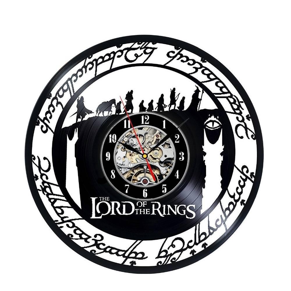De lord Ringen Art Vinyl WandklokKamer Moderne Home Record Vintage Decoratie
