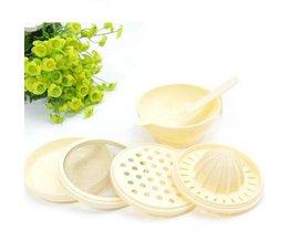 7 Stks/set ABS Materiaal Babyvoeding Molen Stamper Tijd beperkte Baby Voedsel Schotel Mills Gereedschap Fruit Prato Infantil De Cocina
