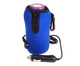 Draagbare DC 12 V in Auto Voor Baby Fles Portable Eten Melk Travel Cup Warmer Heater
