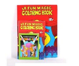 Grote Maat Funny Kleurboek Comedy Magic Boeken Close-up Straat Goocheltrucs Grimoire Spellbook Kind Puzzel speelgoed