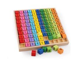Montessori Educatief Houten Speelgoed voor Kinderen Baby Speelgoed 99 Vermenigvuldiging Tafel Math Rekenkundige Leermiddelen voor Kids