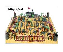 WWII speelgoed soldaat militaire manplastic Militaire pak 146 stks/set van modelvliegtuigen en tanks scene