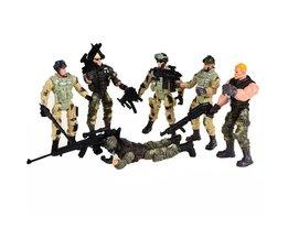 6 stks Amerikaanse Privates Moderne Speelgoed Soldaten Modellen Met Joint Beweegbare Met Wapens