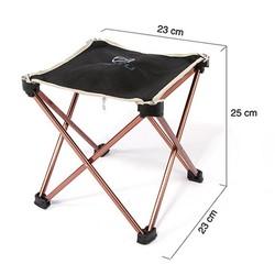 MyXL Ultralight Outdoor 7075 Aluminium Opvouwbare Stoel Vissen Seat Camping Picknick BBQ Tuin Stoel Vissen Vierkante Kruk