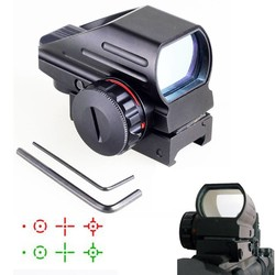 MyXL Tactical Reflex Rood/Groene Laser 4 Reticle Holografische Geprojecteerd Dot Sight Scope Luchtdruk Rifle sight Jacht Rail Mount 20mm