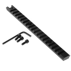 "MyXL 8 ""Picatinny Weaver 20mm Rail Scope Mount 18 Slots Voor Rifle Shotgun Zwart"