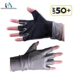 MyXL Maximumcatch 1 Paar Halve Vinger Uv-bescherming Lycra Zon Handschoenen Uv Outdoor sport Vissen Handschoenen
