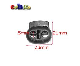 10 stks Pack 5mm Gat Plastic Stopper Cord Lock Bean Toggle Clip Zwart Apparel Schoenveter Sportkleding Accessoires # FLS003-B