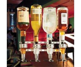 4 Verende Wijnfles Houder Wandmontage 4-station Liquor Bar Butler Drinken Pourer Bar Gereedschap Voedsel-grade ABS Voor Thuis <br />  Finether