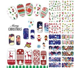 48 Ontwerpen/Veel Kerst Beauty Nail Sticker Set Cartoon Volledige Tip Decals DIY Xmas Tattoos Nail Art Decoratie TRA1129-1176 <br />  Tracy Simple Nail