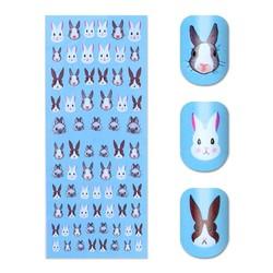 MyXL Konijn Patroon Nail Water Decal Kawaii Bunny Nail Art Transfer Sticker 12.8*5.5 cm Manicure Decoratie <br />  Born Pretty