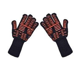 Ovenwanten Handschoenen BBQ Grillen Koken Handschoenen-932F Extreme Hittebestendige Handschoenen Lange Voor Extra Onderarm Bescherming <br />  TTLIFE