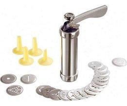 Cookie Press Machine Biscuit Maker Cake Maken Decorating Gun Keuken Aluminium Icing Sets <br />  BEIGUAN