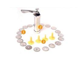 25 St Cookie Druk Pomp Machine Biscuit Maker Cake Cutter Decorating Set <br />  Anivia