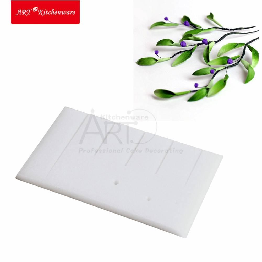 20*12 cm Gegroefde Cake Board Niet Stok Bloemblaadje & Leaf Aders Board Cake Decoratie Sugarcraft To