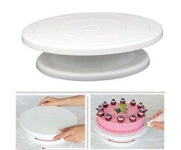 27.5 cm Keuken Cake Decorating Icing Draaibareuitwerppijp Cake Stand Plastic Fondant Bakken Tool DIY Anti-skid Ronde Rotary tafel <br />  BEIGUAN