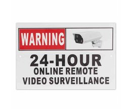 24 Uur Online Remote Video Surveillance Beveiliging CCTV Camera Metal Sign Decal <br />  Safurance