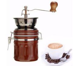 Handgemaakte Handige Handleiding Spice Koffieboon Pepermolen Molen Rvs Grinder met Keramische Kern koffiezetapparaat <br />  warmtoo