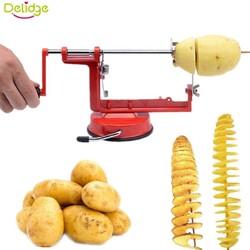 MyXL Delidge 1 st handleiding draaien aardappel snijmachine roestvrij metalen zoete aardappelen twisted tornado aardappel slice cutter diy keukengereedschap <br />  delidge