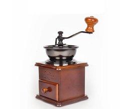 Klassieke Houten Mini Koffiemolen Handleiding Rvs Retro Koffie Spice Mill Met Hoogwaardige Porselein Beweging <br />  Alanchi