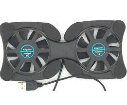 Draagbare Slim Smart Laptop Cooling Pad USB Ventilator 2 Fans Cooler plug play Voor Notebook PC Laptop Computer Randapparatuur Black <br />  ZHENTIANXIA