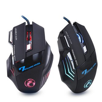 Professionele Bedrade Gaming Muis 7 Knop 5500 DPI LED Optische USB Computer Muis Gamer Muizen X7 <br />  iMice