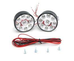 2 STKS Heldere Witte 9 W LED Ronde Dag Mistlamp Hoofd Lamp Auto Auto DRL Driving Dagrijverlichting DRL Auto Mistlamp koplamp <br />  Eonstime