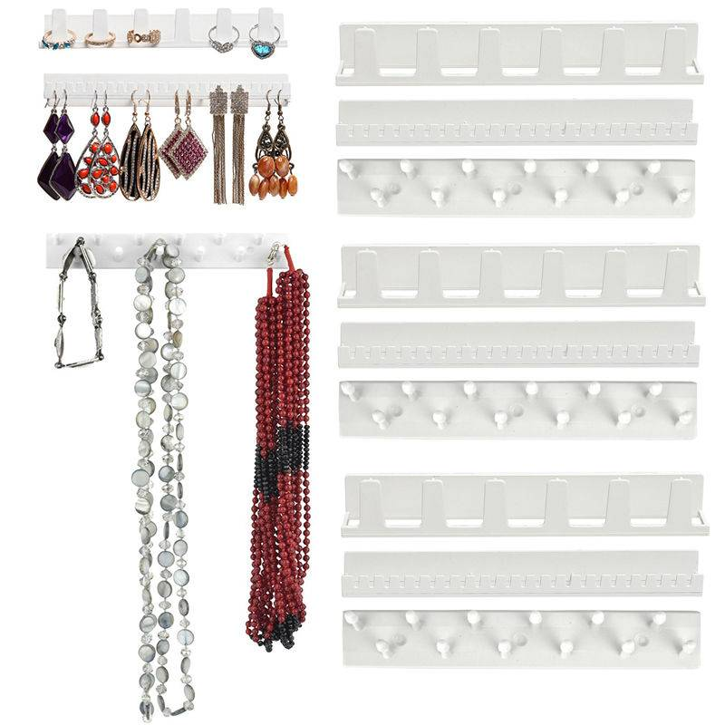 Sieraden Display Opknoping Earring Ketting Ring Hanger Holder Rack Kleverige Haken 9X   OPPOHERE