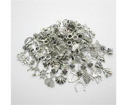 Mix charm 50 stks Vintage Europese hanger grote gat kralen fit voor pandora style armband DIY sieraden maken <br />  MyXL