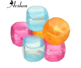 12 stks/set Ijsblokjes Food-grade Plastic Fruit Vormige Herbruikbare Plastic Multicolour Cool Koude Drinkware Bar Barbecue Party <br />  Arshen
