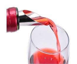 2-in-1 Rode Wijn Champagne Rvs Siliconen Gieten Apparaat Kurk Wijn Kurk Schenker Wijn Decanter Whisky Steen Verse <br />  Drixon