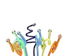 Behokic 10 stks PVC Herbruikbare Spiraal Ontwerp Swizzle Cocktail Sticks Drink Roerder Stok Roerstokjes Cocktail Picks Willekeurige Stijl <br />  MyXL