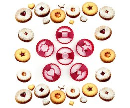 Multifunctionele Cookie Cutter Cake Decorating Fondant Snijders Tool Linzer Cookie Cutters Set van 6 <br />  MOM'S HAND