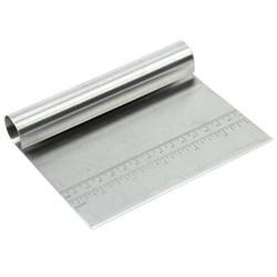 MyXL SDFC Rvs Deeg Schraper Cake Pizza Cutter Gebak Brood Separator Schaal Mes (11.4x15x2.5 cm) <br />  SSGP