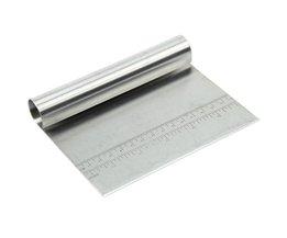 SDFC Rvs Deeg Schraper Cake Pizza Cutter Gebak Brood Separator Schaal Mes (11.4x15x2.5 cm) <br />  SSGP