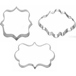 MyXL 3 stks/set Keuken Cakevorm Zegen Frame Wedding Rvs Cookie Cutters 3D Biscuit Sugarcraft Bakken Gebak Gereedschap E397 <br />  MON'S FAVORITE