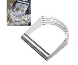 Koop Rvs Kitchen Craft Pastry Deeg Cutter Blender Willekeurige Kleur Mixer Garde Tool <br />  LIMITOOLS