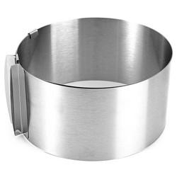 MyXL 1 Stks Ring Bakken Tool Set Bakvormen Intrekbare Roestvrijstalen Cirkel Mousse Cakevorm Gereedschap Size Verstelbare Bakvormen 16-30 cm <br />  KING SARAS