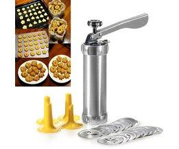 Aluminium Druk Cookie koekjes Machine 20 Ontwerpen Cookies Biscuit Mold Extruder Keuken ZH786 <br />  EZLIFE