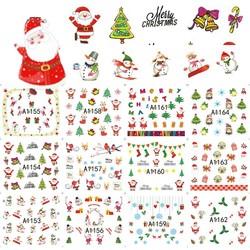 MyXL 48 Vellen Kerst Gemengde Decals Nail Art Water Transfer Stickers Volledige Wraps Kerstman/Boom/Sneeuwvlok Nail Tip Decor DIY LAA1129-1176  <br />  <br />  SWEET TREND