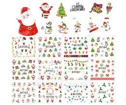 48 Vellen Kerst Gemengde Decals Nail Art Water Transfer Stickers Volledige Wraps Kerstman/Boom/Sneeuwvlok Nail Tip Decor DIY LAA1129-1176  <br />  <br />  SWEET TREND