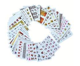 40 sheets Leuke Cartoon Nail Art Water Transfer Stickers Schoonheid Bloem Manicure Wraps Decor Decals DIY Accessoires BESTZ041-80 <br />  Ur Beautiful