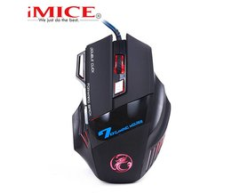 Imice USB Gaming Muis 7 Knop 5500 DPI LED Optical Wired Kabel Computer Muizen Gamer Muizen Voor PC Laptop Desktop X7 Game Muis <br />  iMice