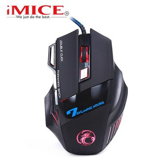 Imice USB Gaming Muis 7 Knop 5500 DPI LED Optical Wired Kabel Computer Muizen Gamer Muizen Voor PC Laptop Desktop X7 Game Muis <br />  iMice