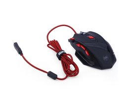 Zelotes T90 T-90 9200 DPI 8 Knoppen Computer Muis Optische USB Wired Gaming Muis Professionele Game Muizen voor Laptops Desktops <br />  ZELOTES
