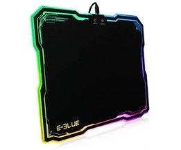 EMP013 Pro Gaming Muismat Gamer met 10 Modellen RGB Verlichting Licht Rubber Muizen Mousepad <br />  E-3LUE