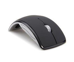 Draadloze Muis 2.4 Ghz Computer Mouse Opvouwbaar Opvouwbare Optische Muizen Usb-ontvanger voor Laptop PC Computer Desktop <br />  MEMTEQ