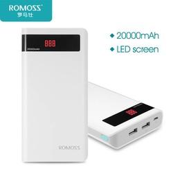 MyXL Gevoel 6 P 20000 mAh Power Bank Draagbare Externe Batterij 2.1A Snelle Opladen met LED Digitale Display Dual USB <br />  ROMOSS