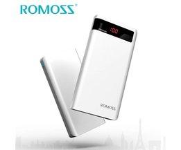 Power Bank 20000 mAh Sense 6 P Externe Batterij 18650 Powerbank 2 USB Draagbare Oplader voor iPhone 7 Samsung <br />  ROMOSS